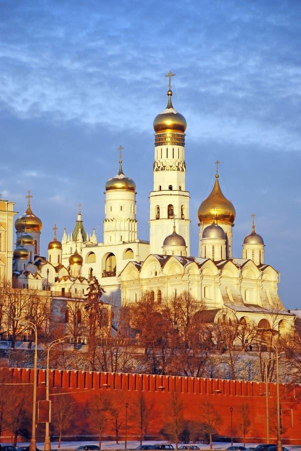 Catedrais de Kremlin. imagem de stock