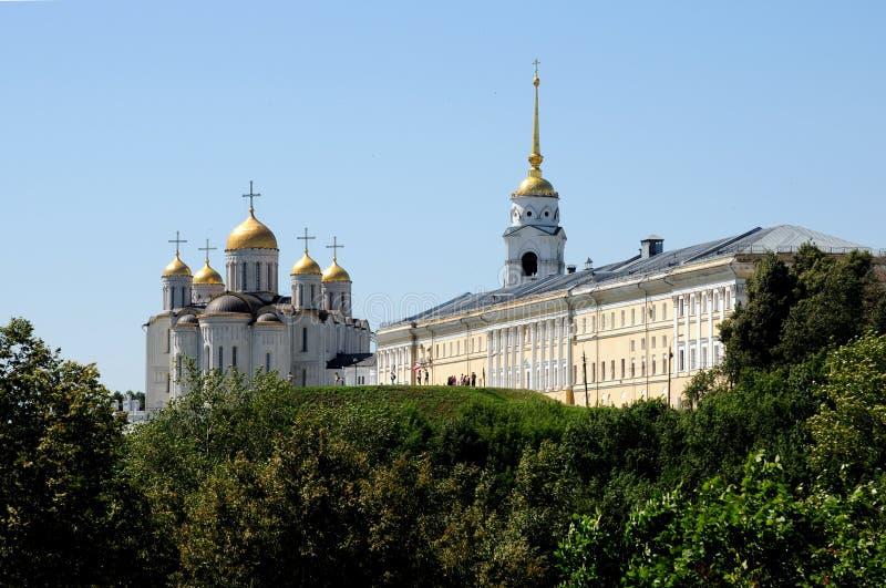 Catedrais do Vladimir Kremlin imagens de stock