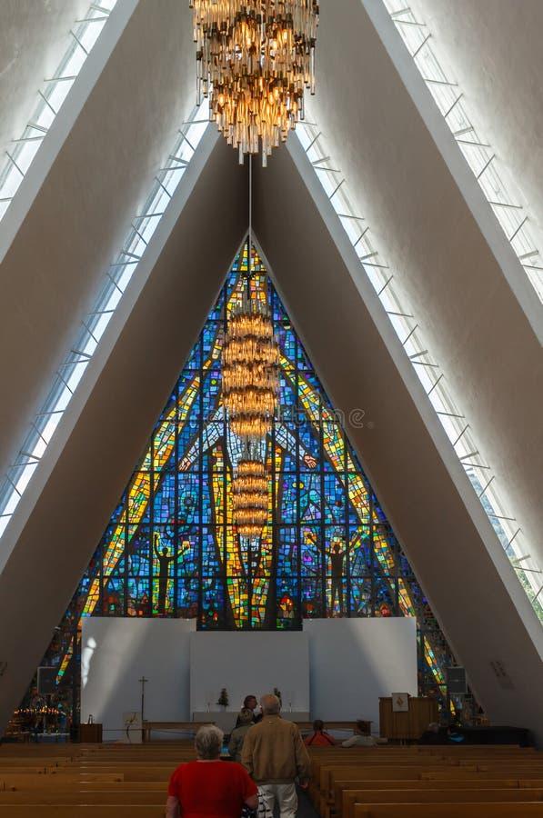A catedral ártica. imagem de stock