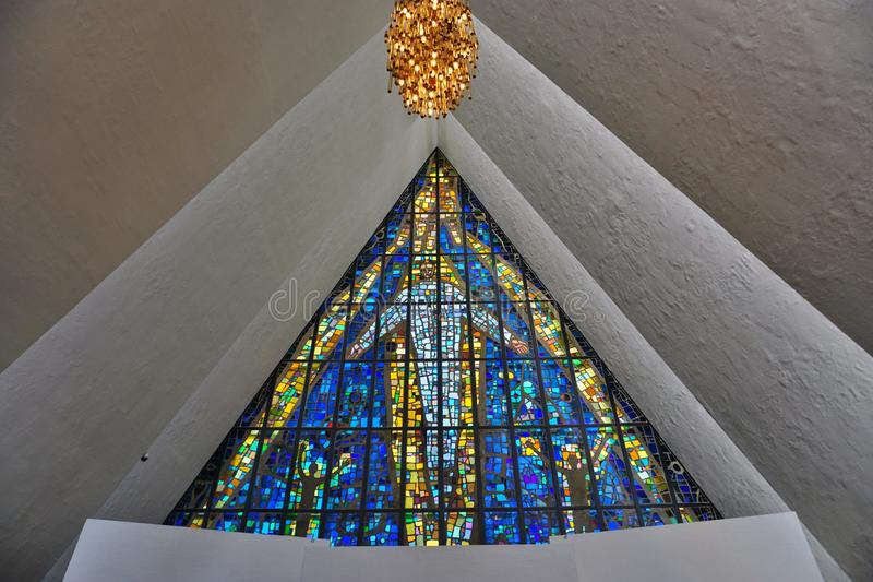 A catedral ártica em Tromso, Noruega imagens de stock