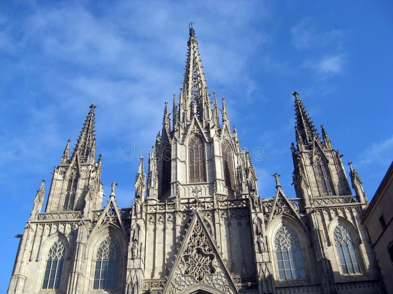 Catedral в Барселоне стоковое изображение