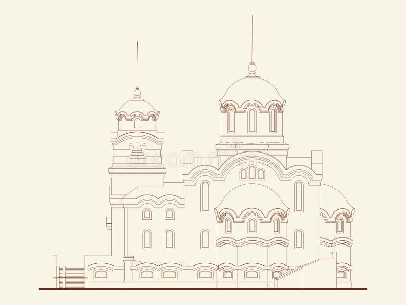 Catedral ilustração do vetor