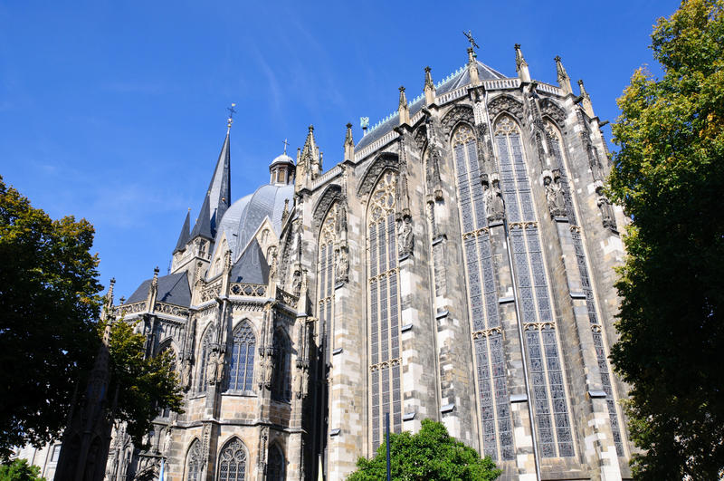 Catedral - Aix-la-Chapelle, Alemanha imagens de stock royalty free