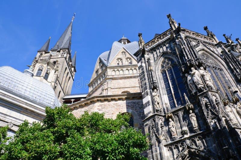 Catedral - Aix-la-Chapelle, Alemanha fotos de stock royalty free