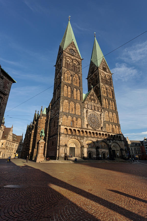 Catedral Alemanha de Brema fotografia de stock royalty free