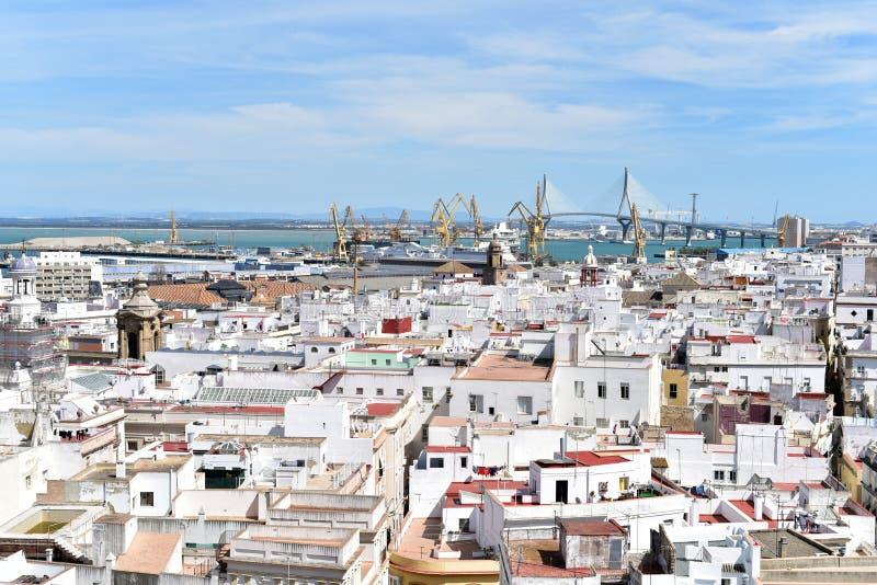 Catedral Andalucía de Cádiz fotografía de archivo