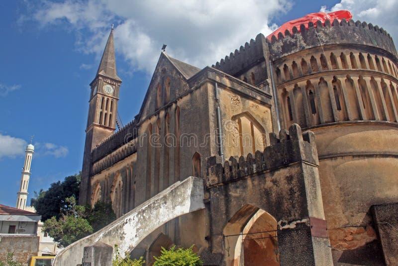 Catedral anglicana de Zanzibar imagens de stock