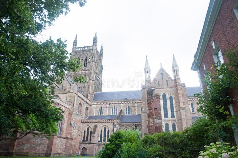Catedral através das árvores fotografia de stock royalty free
