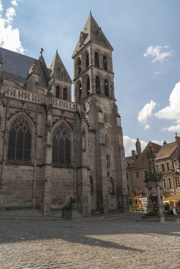 Catedral Autun, França, Borgonha fotografia de stock royalty free