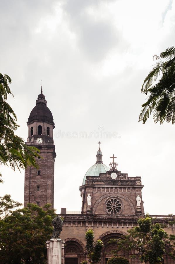 Catedral-basílica metropolitana de Manila, Manila, Filipinas fotos de stock