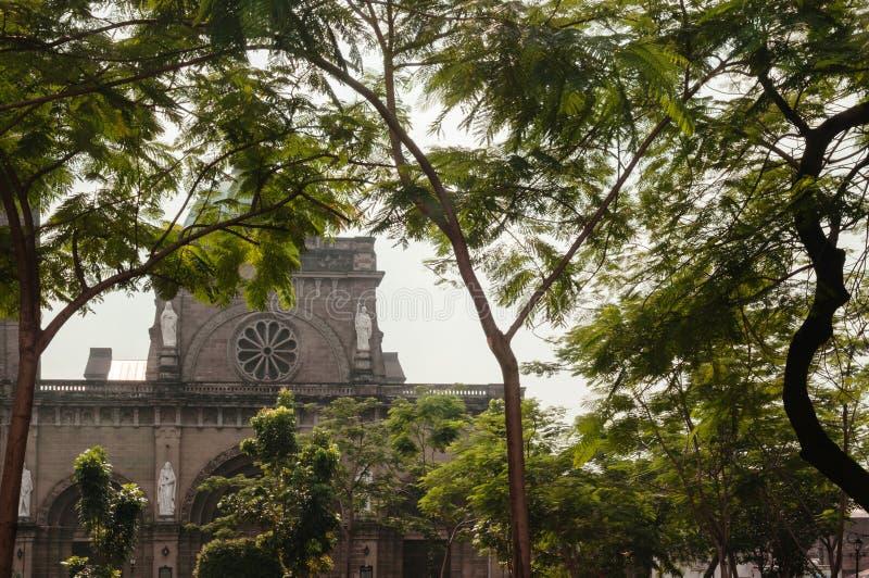 Catedral-basílica metropolitana de Manila, Manila, Filipinas imagens de stock