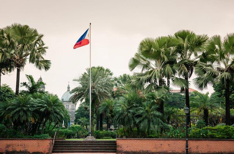 Catedral-basílica metropolitana de Manila, Manila, Filipinas imagem de stock royalty free