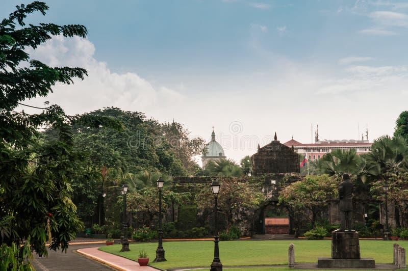 Catedral-basílica metropolitana de Manila, Manila, Filipinas fotos de stock royalty free