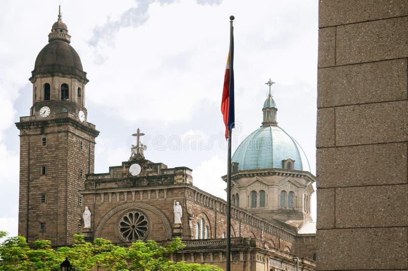 Catedral-basílica metropolitana de Manila, Manila, Filipinas foto de stock royalty free
