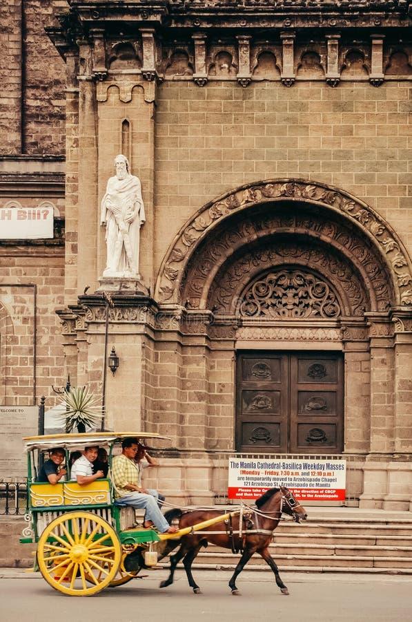 Catedral-basílica metropolitana de Manila, Manila, Filipinas imagens de stock royalty free