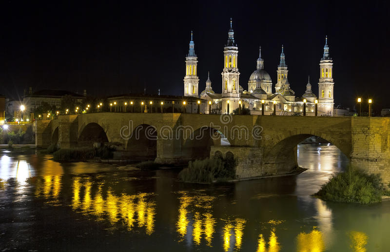 Catedral Basilica del Pilar, Zaragoza España fotos de archivo libres de regalías