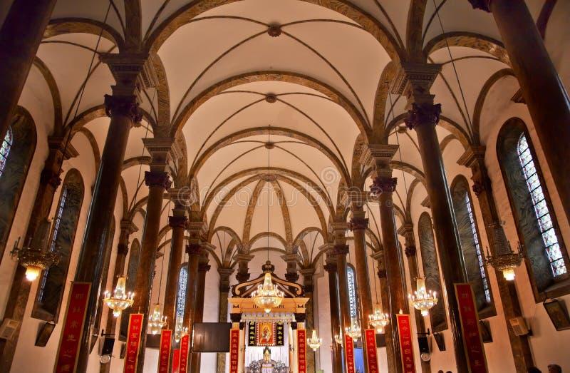 Catedral Beijing China do St. Joseph Wangfujing fotos de stock royalty free