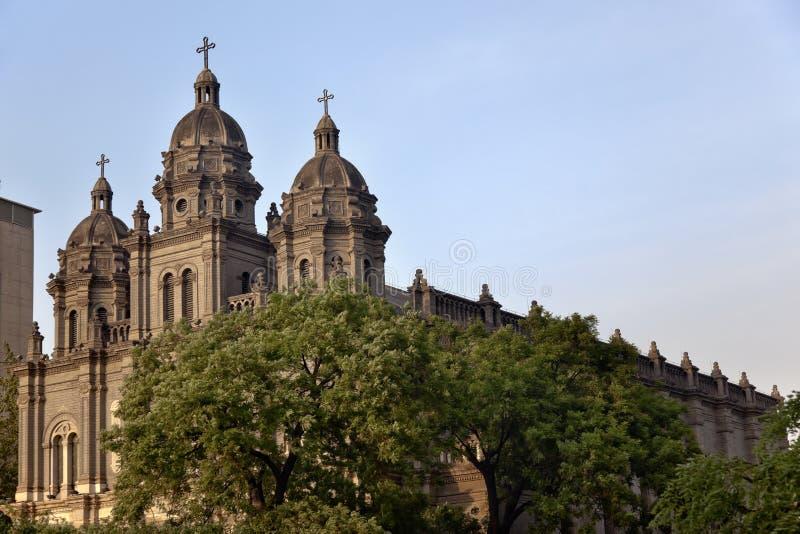 Catedral Beijing China do St. Joseph Wangfujing imagens de stock