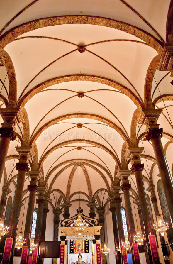 Catedral Beijing do St. Joseph Wangfujing imagens de stock royalty free