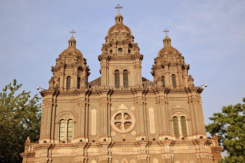 Catedral Beijing do St Joseph Wangfujing foto de stock