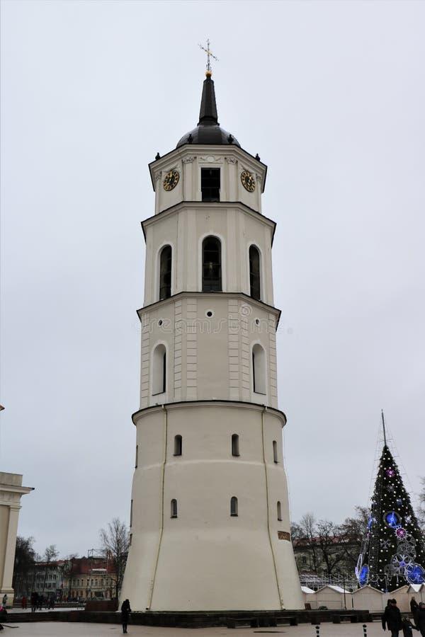 Catedral Belltower de Vilna fotos de archivo libres de regalías