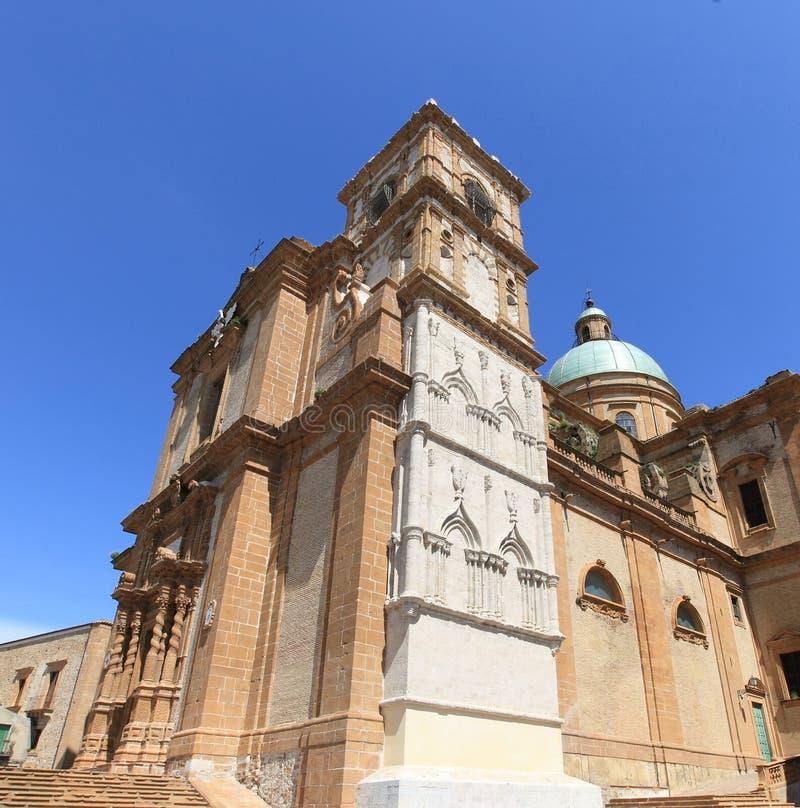 Catedral bonita da praça Armerina foto de stock royalty free