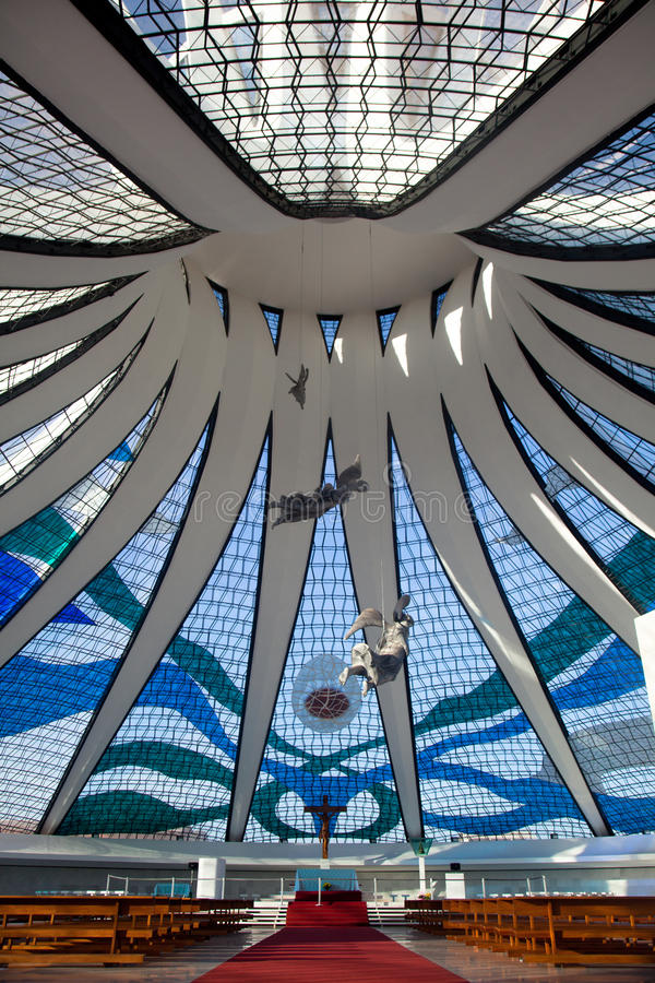 Catedral Brasil de Brasília fotos de stock royalty free
