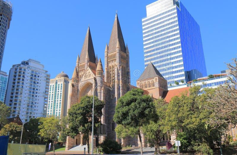 Catedral Brisbane Austrália de St Johns fotos de stock royalty free