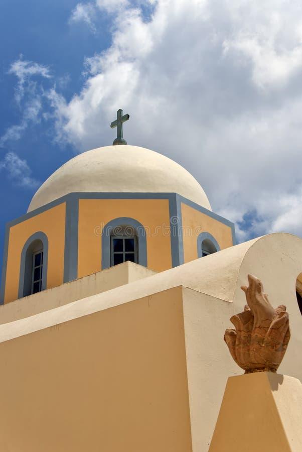 Catedral católica 01 de Fira foto de stock
