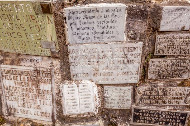 Catedral católica de Las Lajas en Colombia meridional imagen de archivo