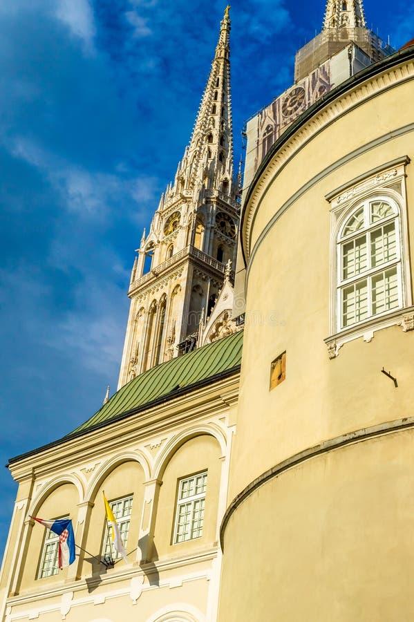 Catedral católica em Zagreb, Croácia imagem de stock royalty free