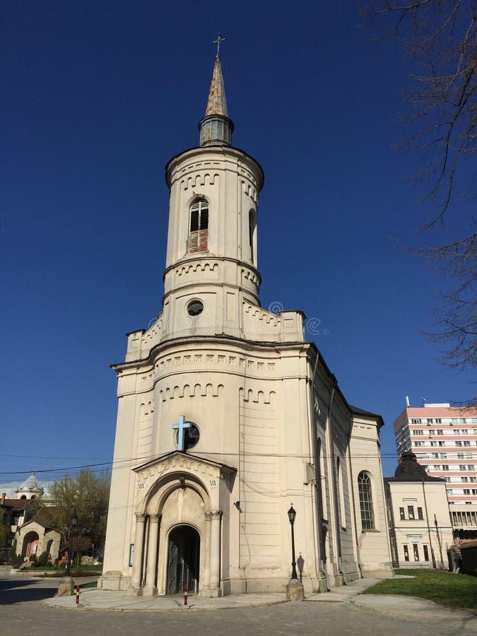 Catedral católica en Iasi (Rumania) imagen de archivo libre de regalías