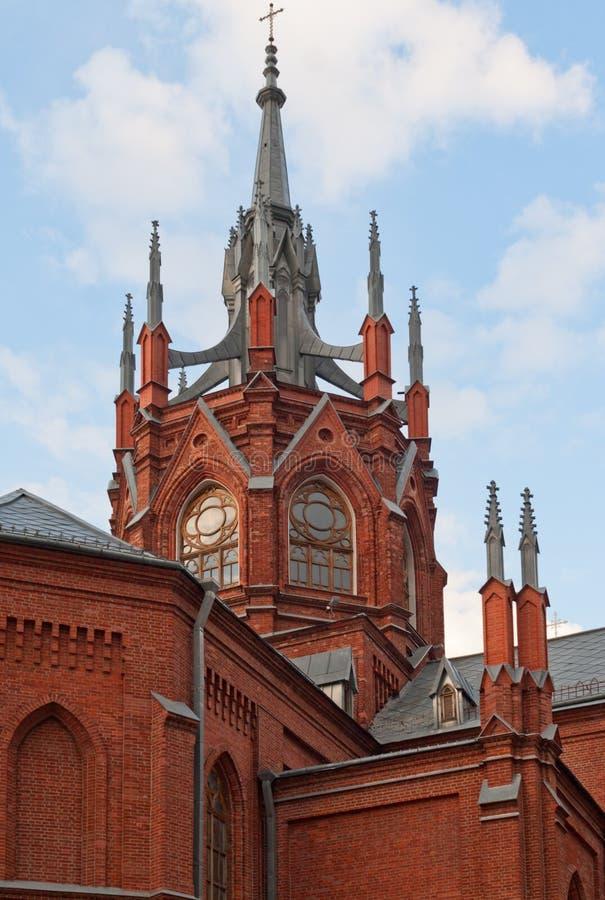 Catedral católica en Moscú imagenes de archivo