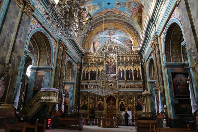 Catedral católica grega da ressurreição santamente, Ivano-Frankiv fotos de stock