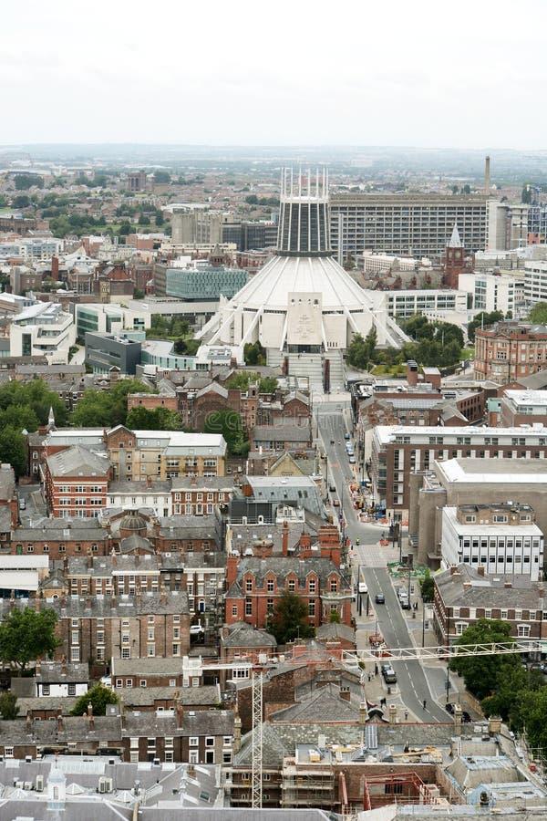 Catedral católica metropolitana de Liverpool foto de archivo
