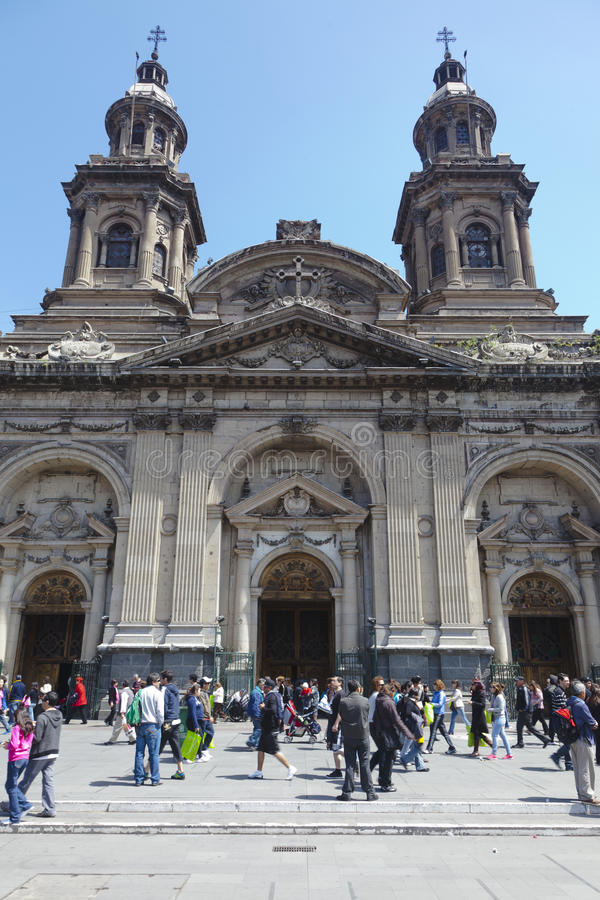 Catedral católica metropolitana, Santiago de Chile fotos de archivo