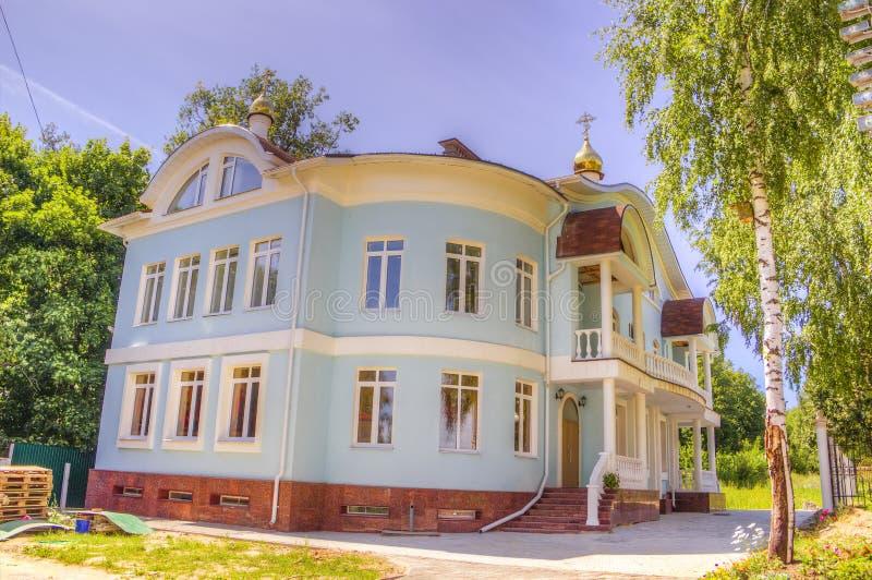 Catedral Cheboksari Rusia de Pokrovskoe-Tatianinsky imágenes de archivo libres de regalías