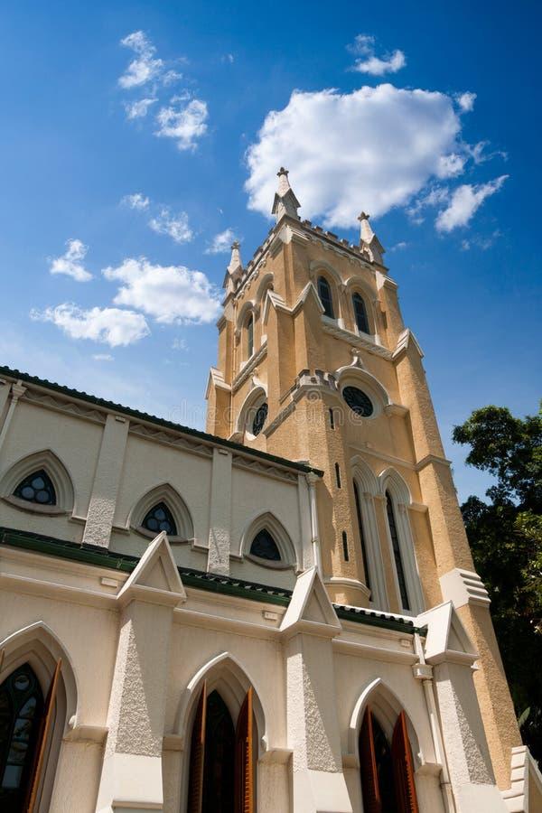 Catedral cristã em Hong Kong fotos de stock