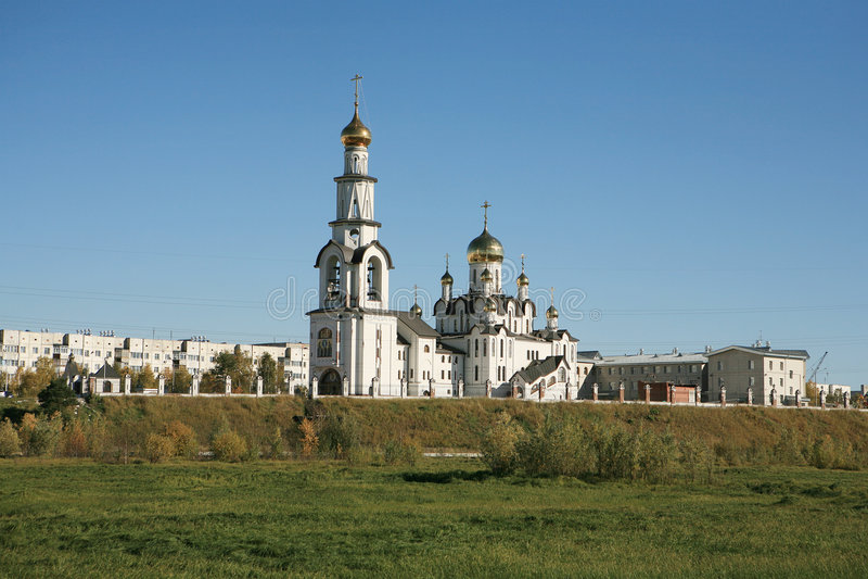 Catedral cristã ortodoxo do russo imagem de stock royalty free