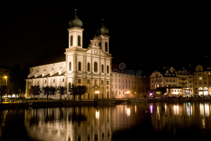 Catedral cristiana antigua en Luzerne fotografía de archivo libre de regalías