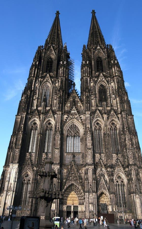 Catedral da água de Colônia do patrimônio mundial do UNESCO em Alemanha imagens de stock