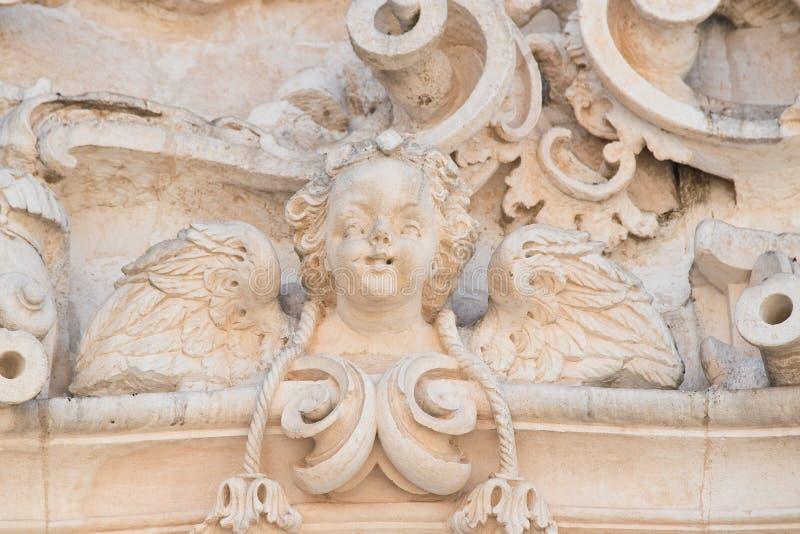 Catedral da basílica de Martina Franca Puglia Italy fotos de stock