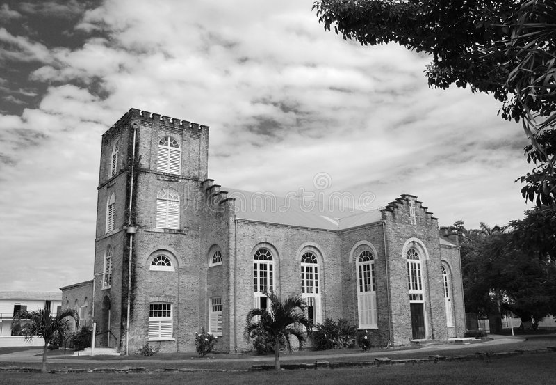 Catedral da cidade de Belize imagens de stock