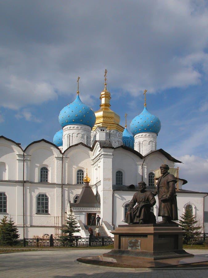 Catedral da cidade de Kazan fotografia de stock