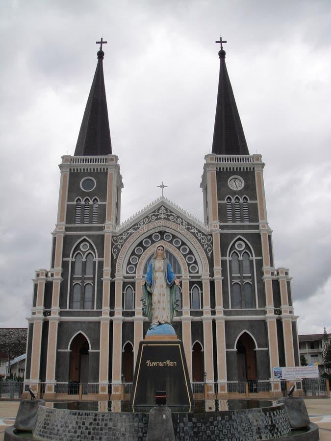 Catedral da concepção imaculada, Chanthaburi fotografia de stock royalty free