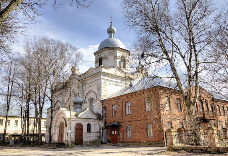 Catedral da descida do Espírito Santo Veliky Novgorod fotos de stock