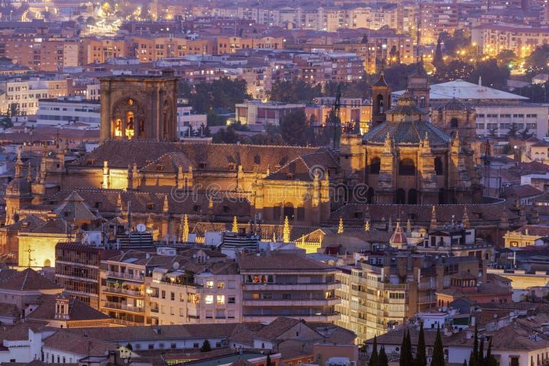Catedral da encarnação em Granada imagens de stock royalty free