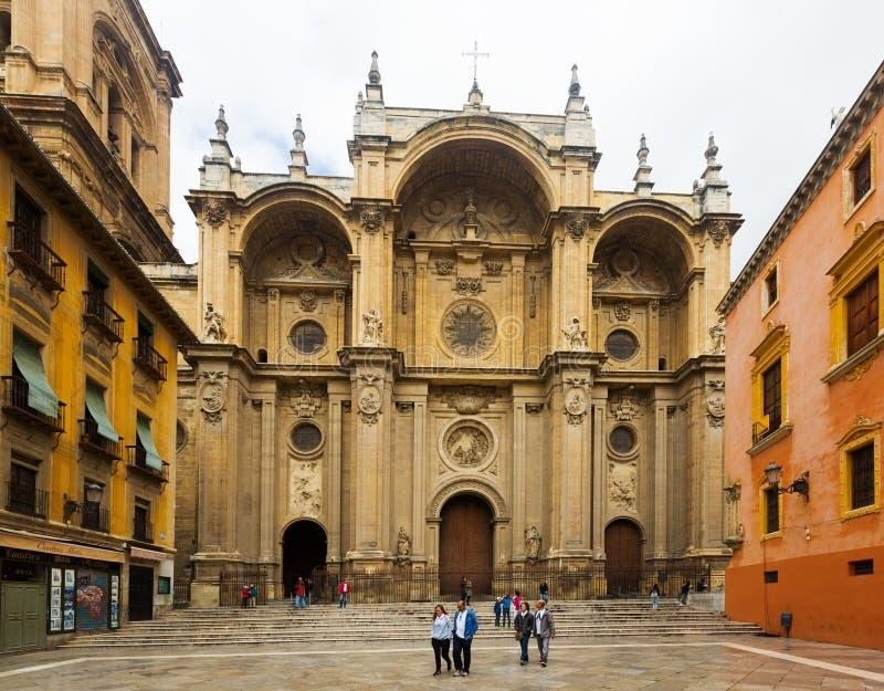 Catedral da encarnação em Granada A Andaluzia, Espanha imagens de stock royalty free