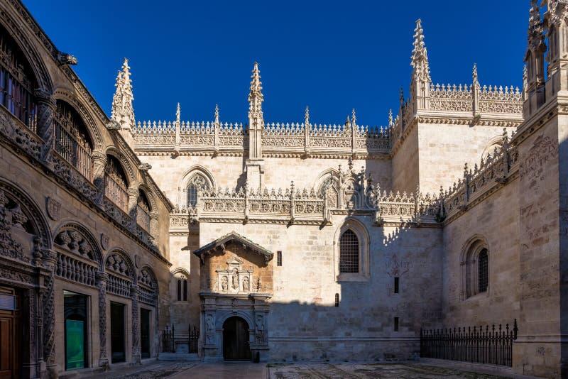 Catedral da encarnação na cidade de Granada A Andaluzia, Espanha imagem de stock