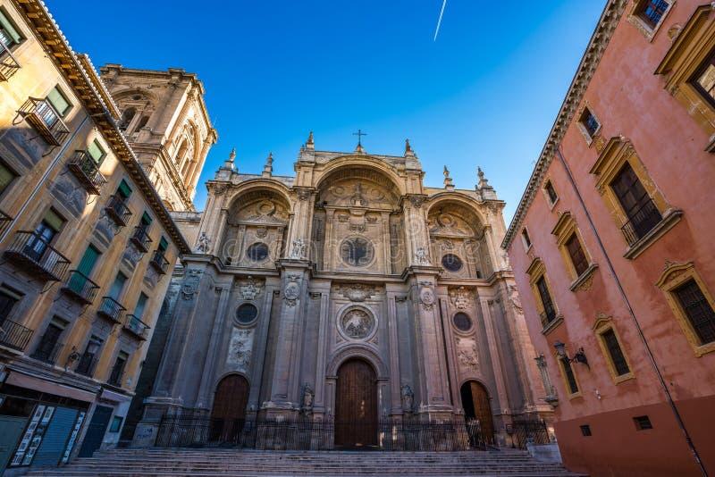 Catedral da encarna??o na cidade de Granada A Andaluzia, Espanha imagens de stock royalty free